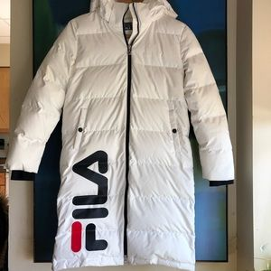 Fila White Line puffer parka jacket